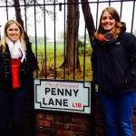 More of our Beatles tour. Here is Ellen and me on Penny Lane!