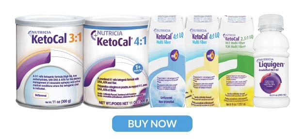 KetoCal family of ketogenic medical foods (ketogenic formulas)